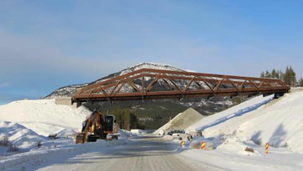 KOLLAPSET: Dette bildet av brua Perkolo ble lagt ut av Statens vegvesen 10. februar. I dag kollapset brua. Foto Statens vegvesen: