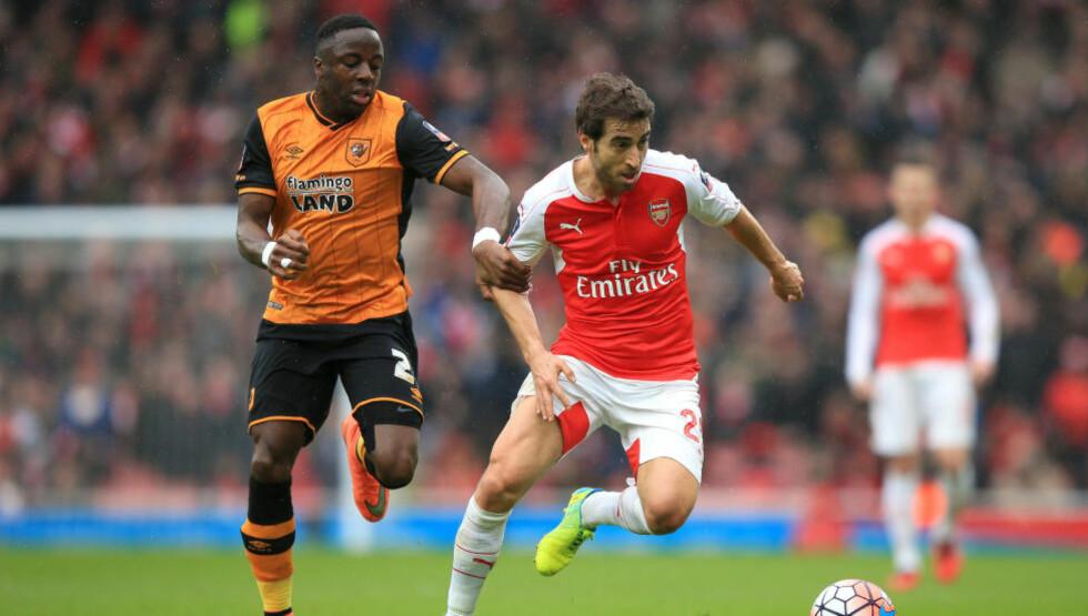 SKAPTE PROBLEMER: Adama Diomande og Hull skapte problemer for Arsenal. Foto: NTB Scanpix