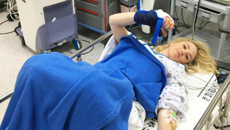 PÅ SYKEHUS: Silje Norendal får behandling i Sør-Korea. Foto: Snowboardforbundet