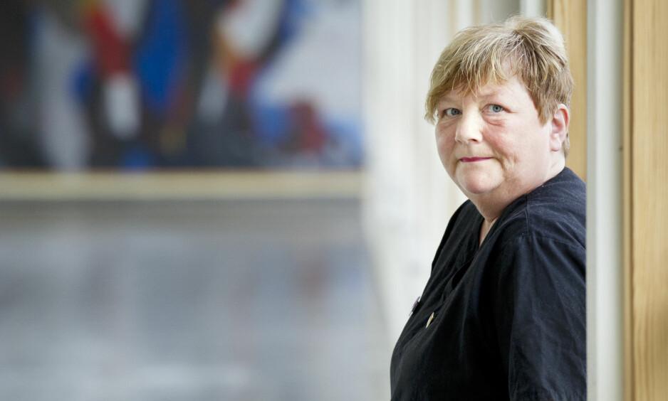 SLÅTT PÅ JOBB: Britt Brox er nå tilbake på jobb, etter å ha vært sykmeldt i et halvt år. Foto: Ingun A. Mæhlum