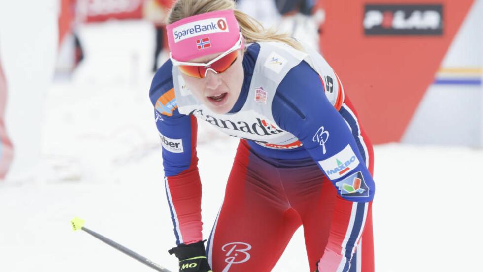 SYK: Ragnhild Haga reiser hjem fra Ski Tour Canada. Foto: Terje Pedersen / NTB scanpix