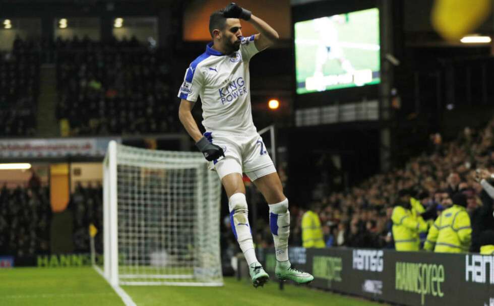 SCORET NUMMER 15: Riyad Mahrez kan være Premier Leagues viktigste spiller denne sesongen. Foto:  Reuters / Eddie Keogh / NTB Scanpix