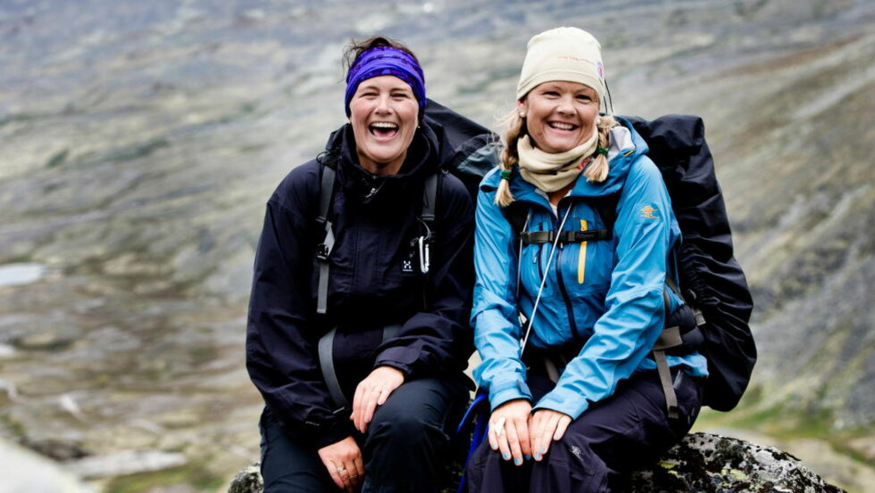 TIL FJELLS, MEN LANGT FRA FJOLS: Stadig flere vil oppleve de norske fjellene. Her er to venninner på fottur i Rondanne. I nærheten av Rondvassbu. Foto: Thomas Rasmus Skaug / Dagbladet