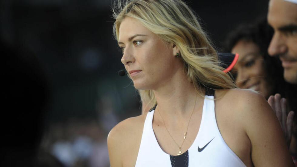 UTSTYRSGIGANTEN TREKKER SEG: Etter at Maria Sjarapova ble tatt i doping. Her fra et Nike-event i fjor. Foto: Alliance / NTB Scanpix