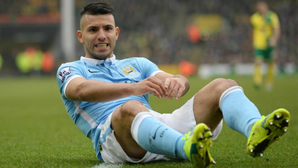 SKUFFET: Sergio Agüero og Manchester City klarte aldr å score borte mot Norwich. Foto:  Action Images via Reuters / Tony O'Brien