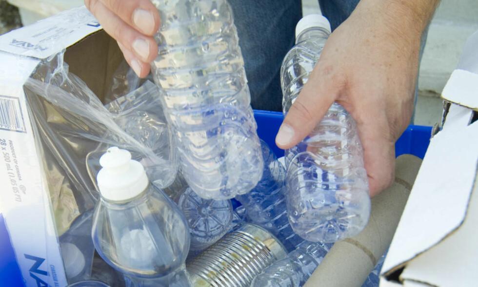 FORBUD: Det er denne typen plastflasker ordføreren i Montreal ønsker å forby. Foto: NTB scanpix