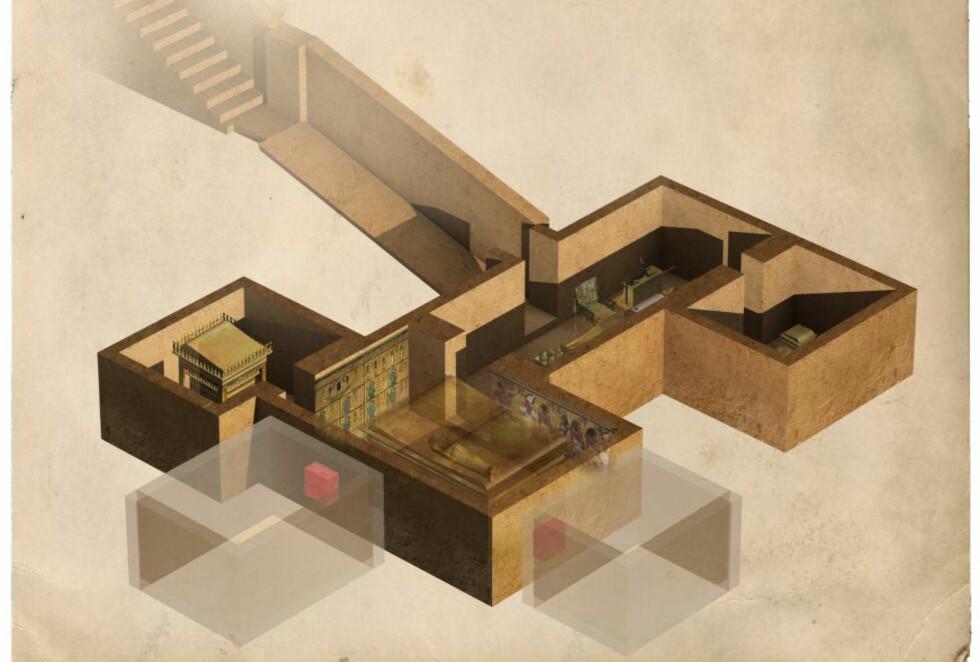 VEL BEVART: I Kongenes dal ligger Tutankhamons grav, men den er usedvanlig liten til å romme en farao. Kan den egentlig ha vært ment for noen andre? Teorien ble for alvor satt fram av arkeologen Nicholas Reeves i fjor, og nå er egyptiske myndigheter nærmere å løse mysteriet. Foto: Sciencephoto / NTB scanpix