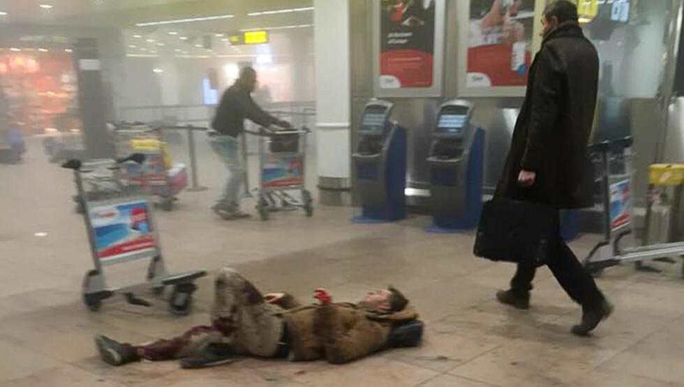 TERROR: Bomber gikk av både på flyplassen og på metroen i Brussel tirsdag morgen: Foto: Ketevan Kardava/ABACAPRESS.COM