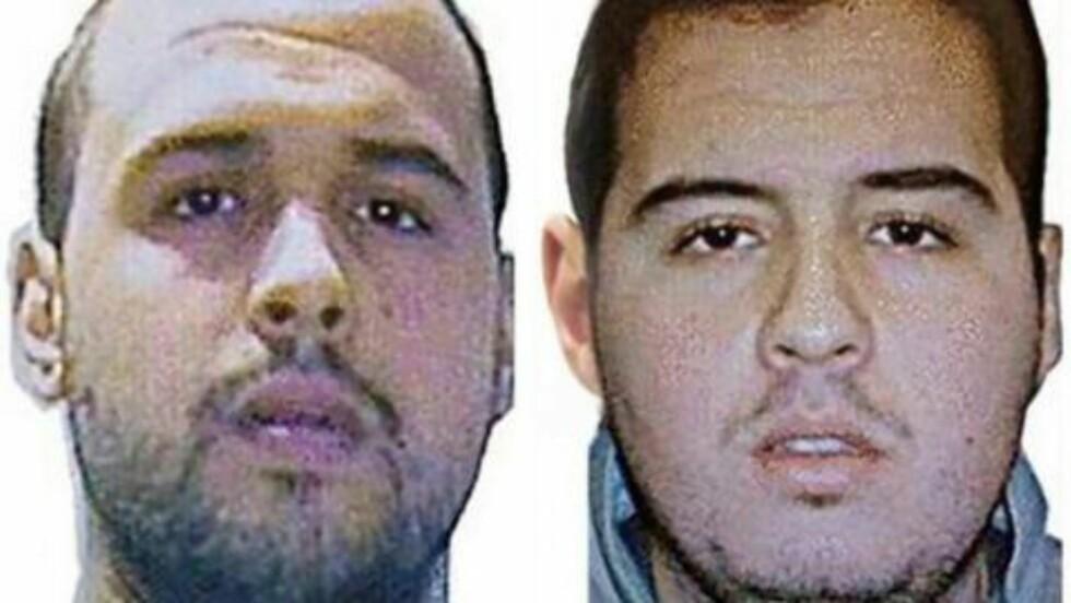 TERRORBRØDRE: Khalid (t.v.) og Ibrahim El Bakraoui har lange rulleblad som politiet før ikke har knyttet til islamistisk terror. Khalid sto som leietaker på leiligheten i Forest. Foto: AFP PHOTO / Interpol / NTB scanpix