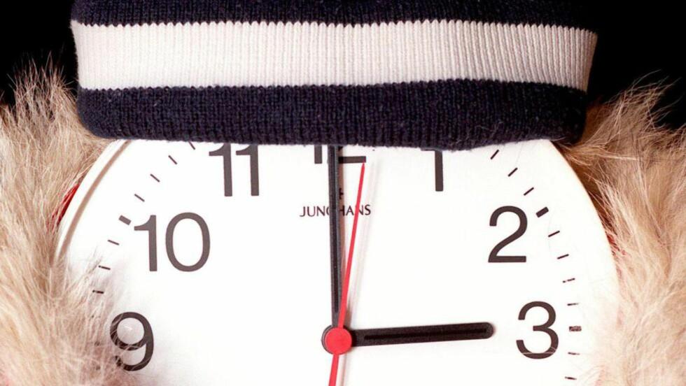 NÅ ER DET DAGS: I natt skal klokka stilles. Husker du hvilken vei? Foto: Paul Kleiven / NTB scanpix