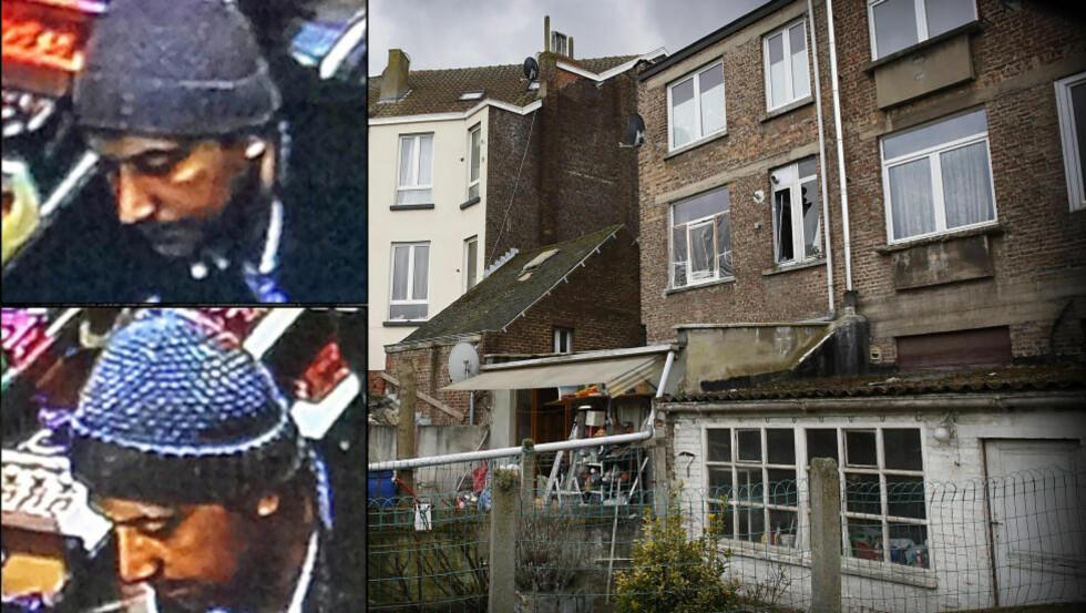 MISTENKT HOVEDMANN: Mohamed Belkaid, som gikk under dekknavnet Samir Bouzid, ble observert på et overvåkningskamera i Brussel fire dager etter Paris-terroren. Nøyaktig én uke før angrepene i Brussel ble han skutt og drept av antiterrorpoliti i denne leiligheten i Brussel-bydelen Forest. To menn kom seg ut av leiligheten gjennom det knuste vinduet man kan se på bildet. Foto: Belgisk politi / Jacques Hvistendahl / Dagbladet