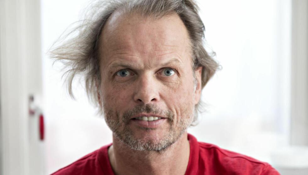 RØD TRØYE, BLÅ POLITIKER: Erling Kagge er nå både polfarer, forlegger og deltidspolitiker. Han er nytt medlem i Høyres sentralstyre. Foto: NTBscanpix
