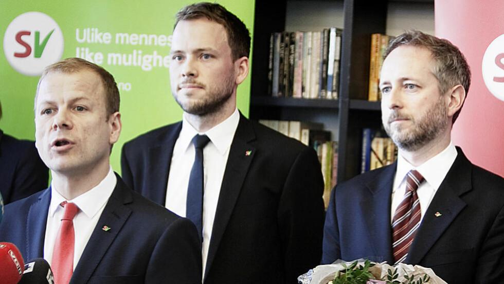 <strong>VIL FJERNE PARAGRAF:</strong> Fra venstre: SV-politikerne Heikki Holmås, Audun Lysbakken og Bård Vegar Solhjell vil endre straffeloven. Foto:  Christian Roth Christensen / Dagbladet