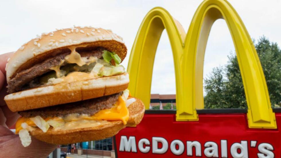 SKAPER DEBATT:  McDonald's fikk nei av Labour. Her et bilde tatt ved en filial i Virginia. Foto: AFP PHOTO / PAUL J. RICHARDS