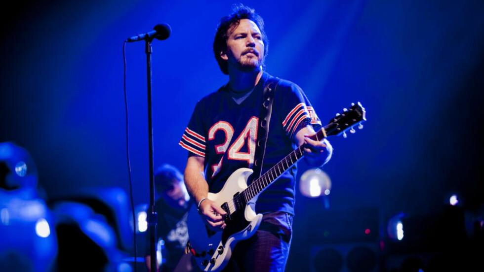 AVLYSER: De amerikanske rockebandene Pearl Jam og Boston har begge avlyst konserter i North Carolina etter at delstaten innførte en ny lov som en rekke artister mener diskriminerer transpersoner. Her Pearl Jam-vokalist og frontfigur Eddie Vedder. Foto: Christian Roth Christensen / Dagbladet
