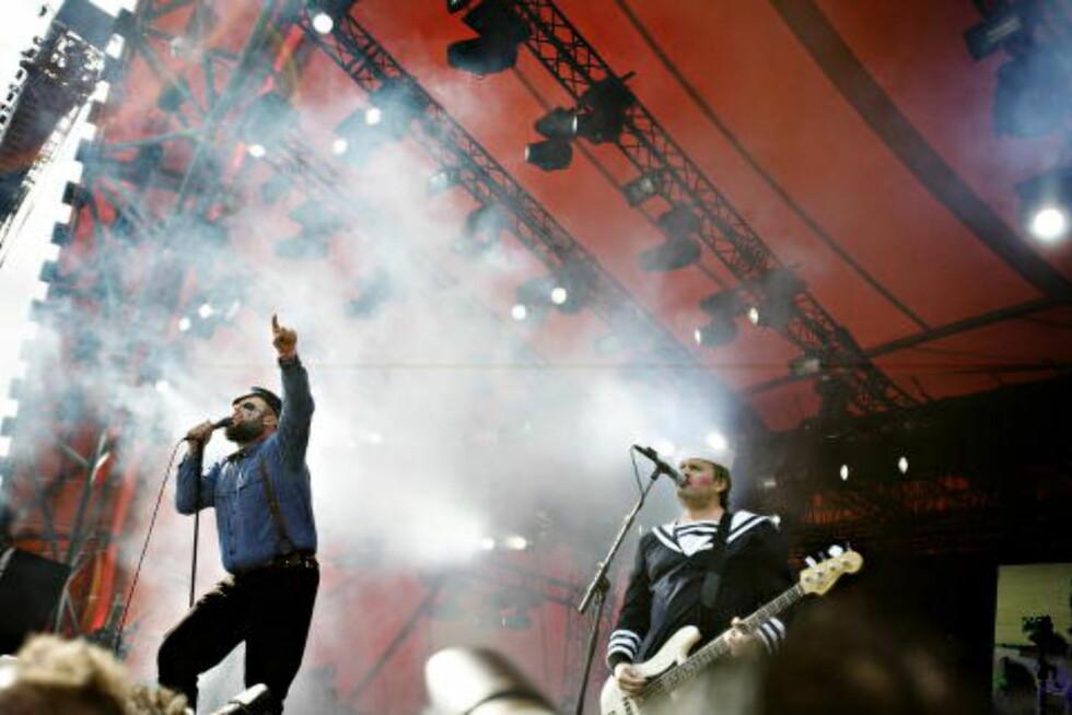 TØFFE I TRYNET: Turboneger live på Roskildefestivalen i 2013.  Foto: Kristian Ridder-Nielsen / Dagbladet.