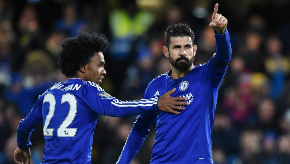 <strong>MATCHVINNER:</strong> Diego Costa sikret tre poeng for Chelsea mot Norwich. Foto: NTB Scanpix