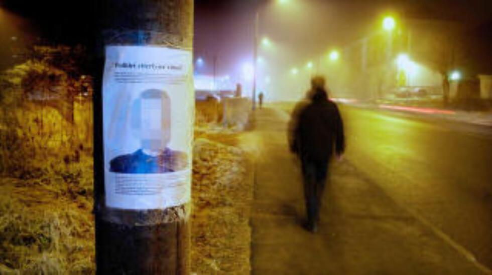 FANTOMTEGNING: : Politiet søkte i 2011 etter vitner i Trasop-området, hvor en kvinne ble overfalt og voldtatt i et skogholt av den nå tiltalte mannen. Han erkjenner straffskyld for dette overgrepet. Foto: Eirik Helland Urke.