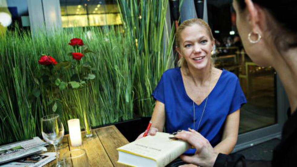 Maja Lunde liker godt å møte publikum. Foto: NINA HANSEN / DAGBLADET