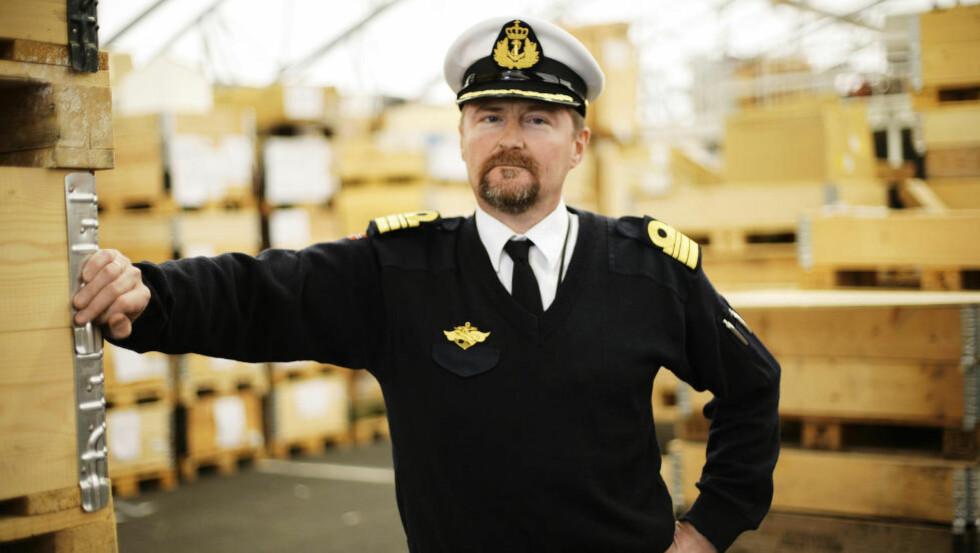 HEMMELIG FORKLARING: Kommandørkaptein Odd-Stein Sundling Melsæter vil i dag forklare seg bak lukkede dører. Foto: Forsvaret
