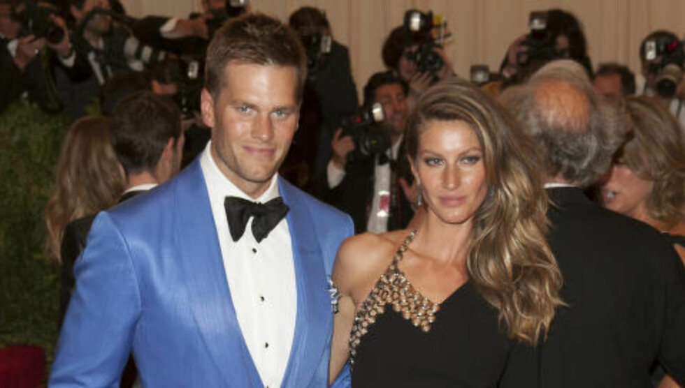 <strong>SUPERPAR:</strong> Tom Brady er gift med den brasilianske supermodellen Gisele Bündchen. Foto: INFphoto.com / NTB Scanpix