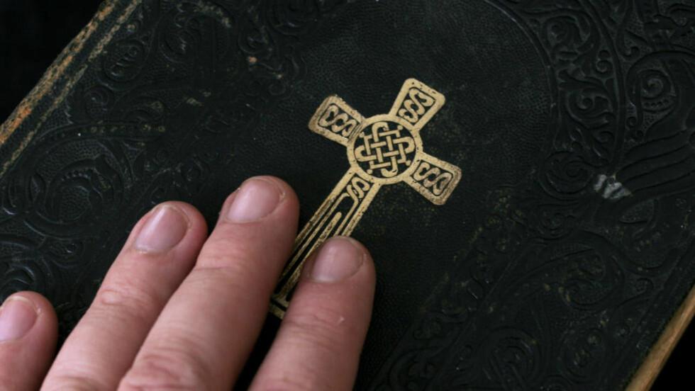 MÅ FJERNES:  Alle kristne symboler må fjernes for at asylsøkere skal kunne bo i lokalene. Foto: Jarl Fr. Erichsen / SCANPIX