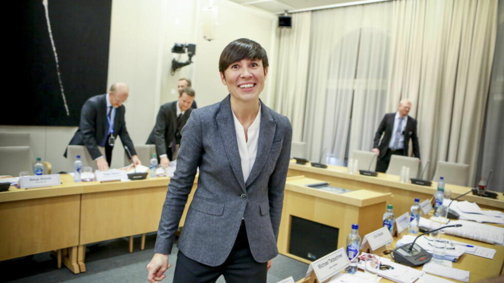 INNSTRAMMINGER: I sin innledning kom forsvarsminister Søreide med helt ny informasjon. Foto: Christian Roth Christensen / Dagbladet