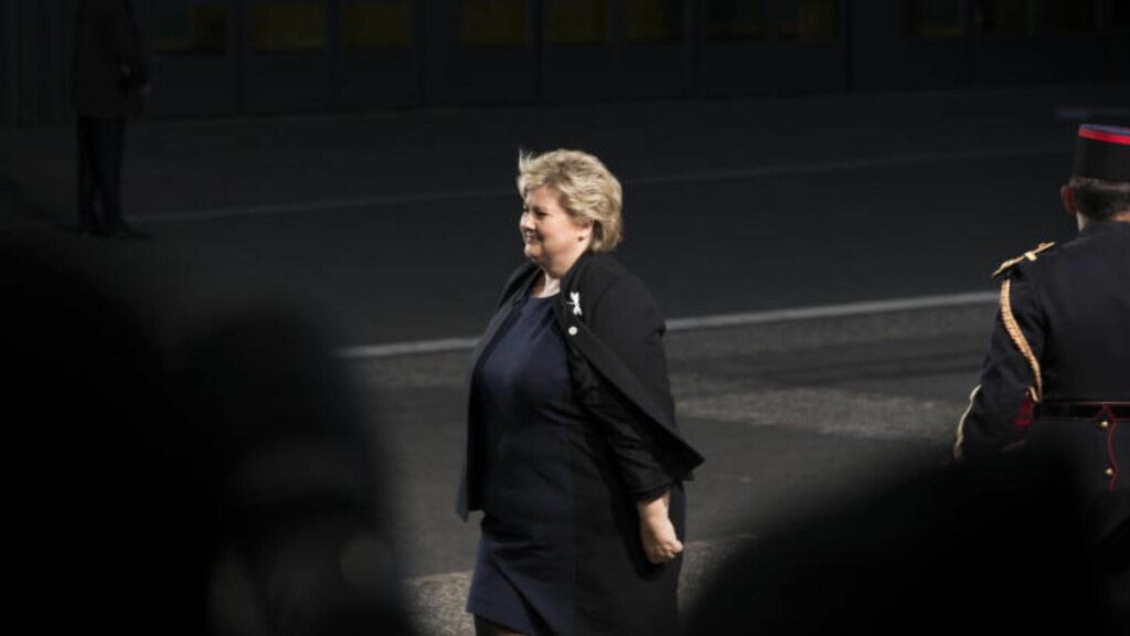 VIKTIG Å HANDLE: Statsminister Erna Solberg er i Paris i forbindelse med åpningen av FNs klimakonferanse.  Foto: Berit Roald / NTB scanpix