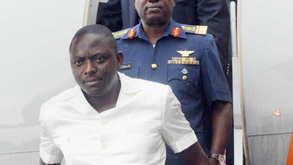 ARRESTERT: Tidligere NIMASA-direktør Patrick Akpobolokemi er arrestert og tiltalt for omfattende korrupsjon og hvitvasking. Arkivfoto: Pius Utomi Ekpei / AFP / NTB Scanpix