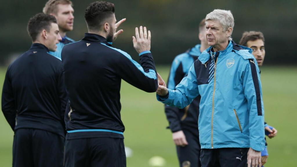 AVANSEMENT?: Arsenal har tatt seg videre i mesterligaen hvert år de siste 15 årene. Nå trenger de scoringer borte mot Olympiakos for at ikke rekken brytes. Foto:  Reuters / Paul Childs