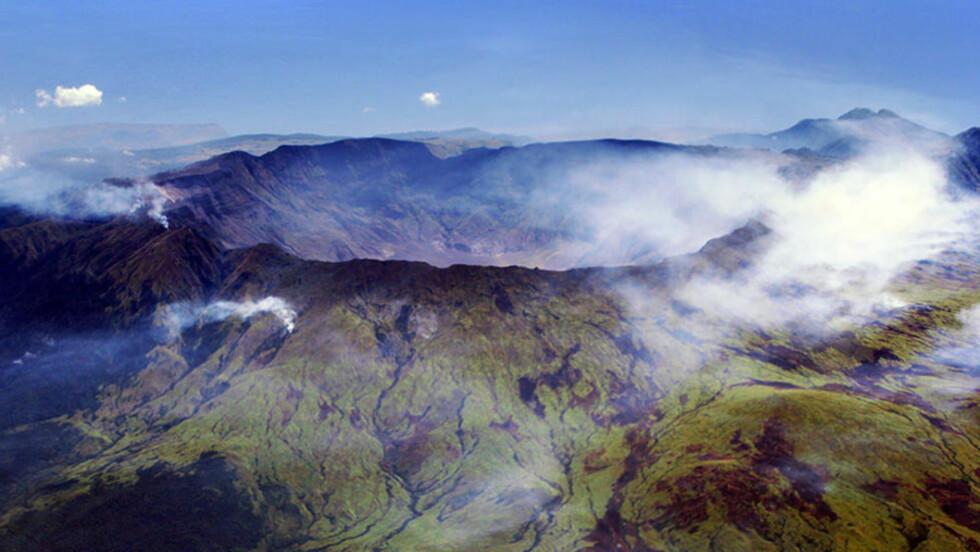 MOUNT TAMBORA: Vulkanutbruddet i Mont Tambora i Indonesia i 1815 regnes som verdens kraftigste i historisk tid, og tok livet av 117.000 mennesker. Dette er det vulkanutbruddet som direkte har tatt livet av flest mennesker. Foto: Jialiang Gao / peace-on-earth.org