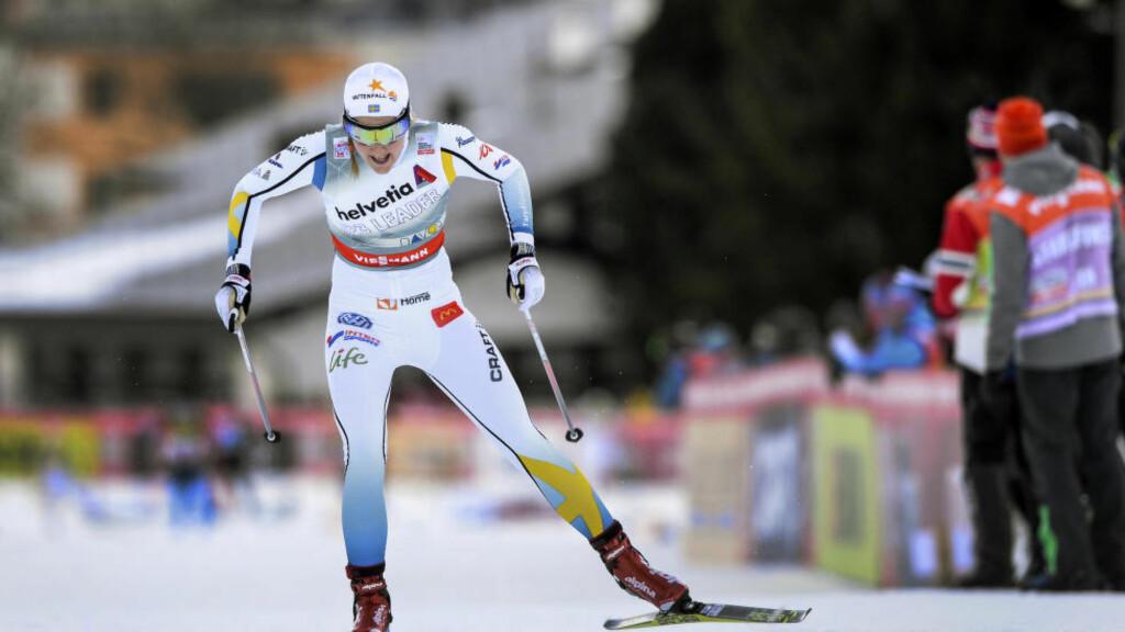 VANT: Stina Nilsson slo alle de norske jentene i Davos. Foto: Anders Wiklund / TT kod 10040