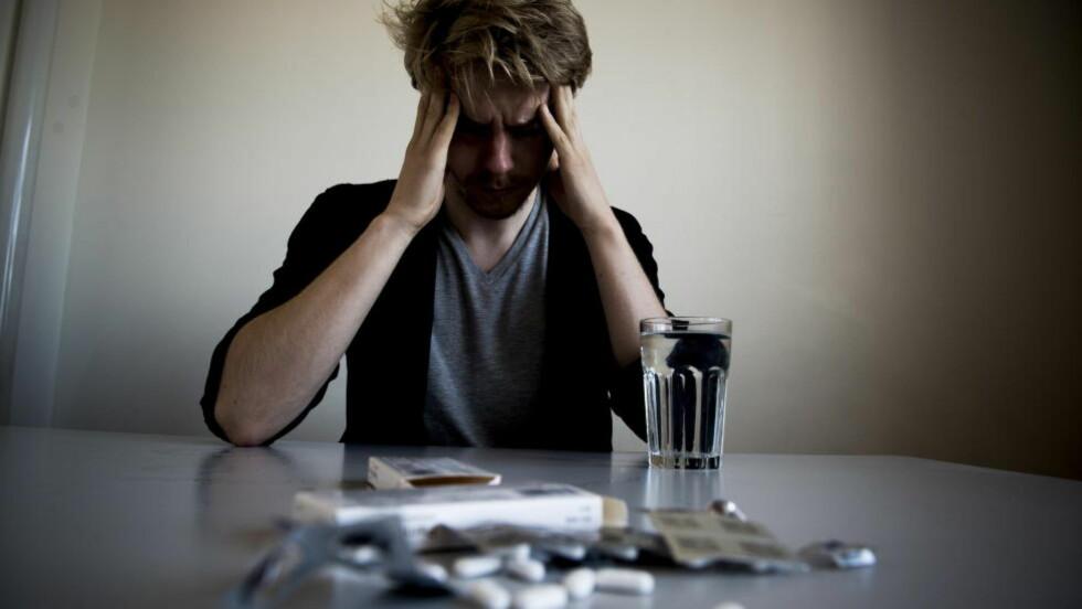 HODEPINE: Folk som har jevnlig hodepine har mer enn dobbelt så stor risiko for å utvikle demens. Illustrasjonsfoto: Thomas Rasmus Skaug  / Dagbladet