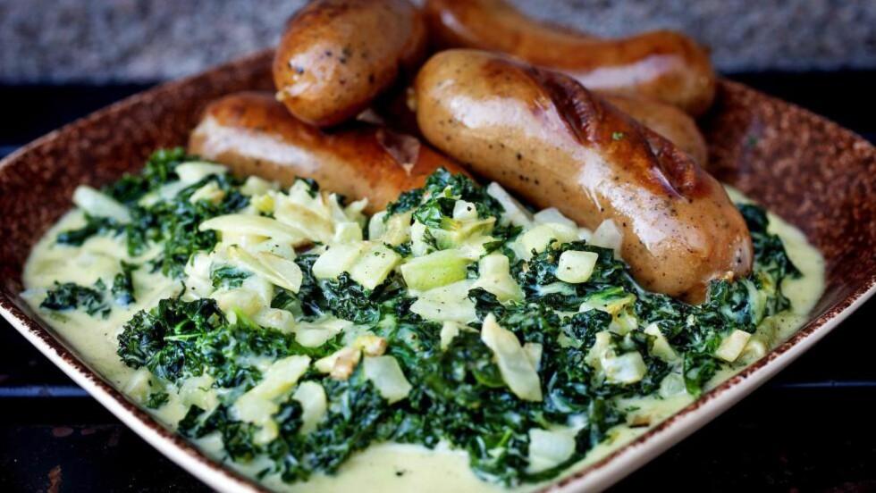 NYDELIG SMAK: Kanskje har du smakt en liknende rett med spinat. Det er fullt mulig at du vil like grønnkålstuing bedre. Foto: METTE MØLLER