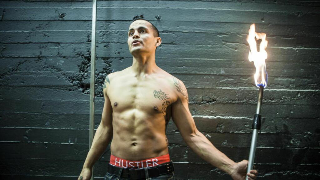 DØMT: Den profilerte danseren og flammeslukeren Julio Kopseng har opptrådt blant annet på «Norske Talenter» og i «barne-tv». Foto: Lars Eivind Bones / Dagbladet