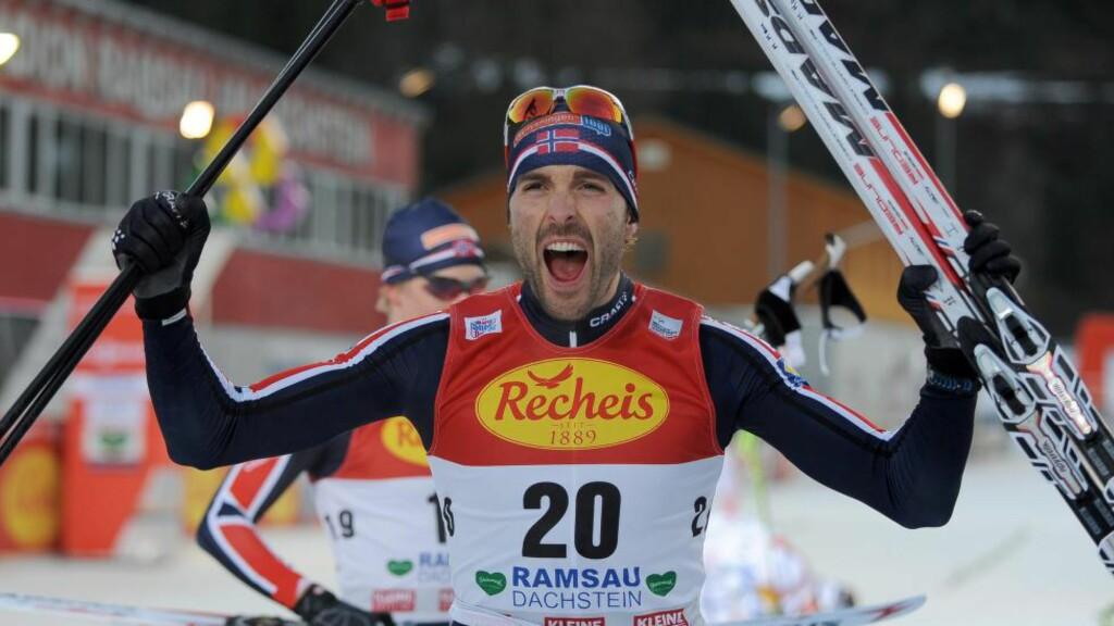 VANT: Magnus Moan slo til med verdenscupseier etter et monsterlangrenn. EPA/BARBARA GINDL