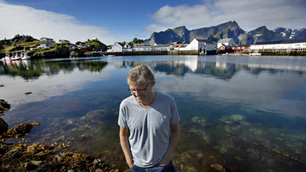 FOR MYE: Frode Granhus smører for tjukt på i sin nye krimroman fra Reine i Lofoten, mener anmelder Ingvar Ambjørnsen. Foto: Anita Arntzen / Dagbladet