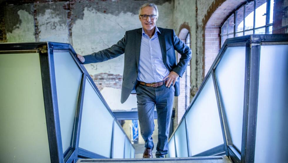 KRITISK: Morten P omtaler Norsk Tipping-direktør Torbjørn Almlid som en forsanger i et hylekor mot NFF. Foto: Stian Lysberg Solum / NTB scanpix