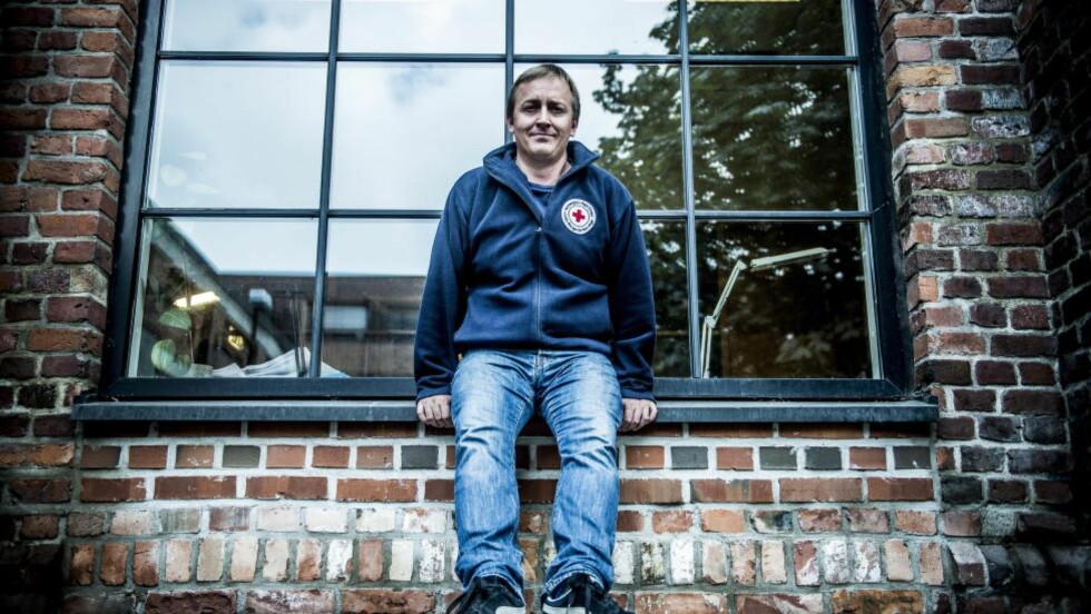 MÅ STRAMME INN:  Mads Harlem leder politikk og folkerettseksjonen i Røde Kors. Han mener Norge må gjøre mye mer for å unngå at Norge selger våpen til land i krig.  Foto:Thomas Rasmus Skaug / Dagbladet