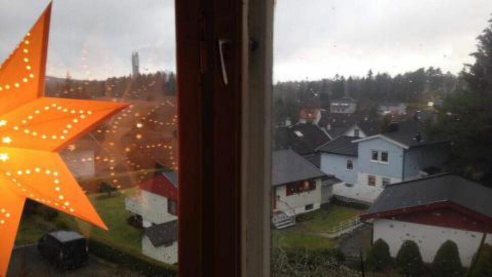 UTSIKT: Thomas Lie Larsen hos våre venner i SOL melder at det er en fordel med opphold på julaften: Da kan han se Reo-pipa (behandlingsanlegget for avfall i Oslo).