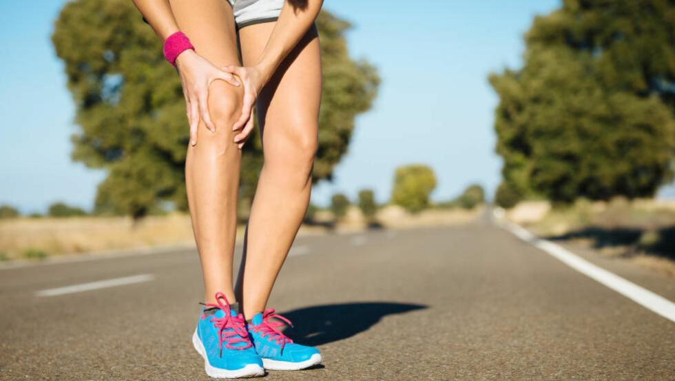 FULL STOPP: Kneproblemer er vanlig for løpere, men mange av de kan behandles med enkle grep. Foto: NTB Scanpix / Microstock / Dirima