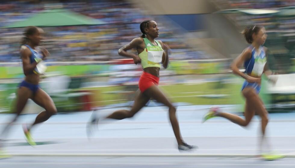 VAKKERT: Almaz Ayana på vei til sjokkrekorden i Rio. FOTO: REUTERS/Gonzalo Fuentes