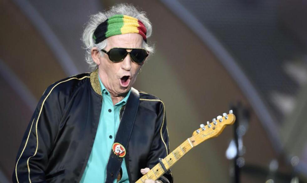 LAGER MER MUSIKK: Gitaristen i Rolling Stones, Keith Richards, bekrefter at et nytt album er på vei. Foto: NTB Scanpix