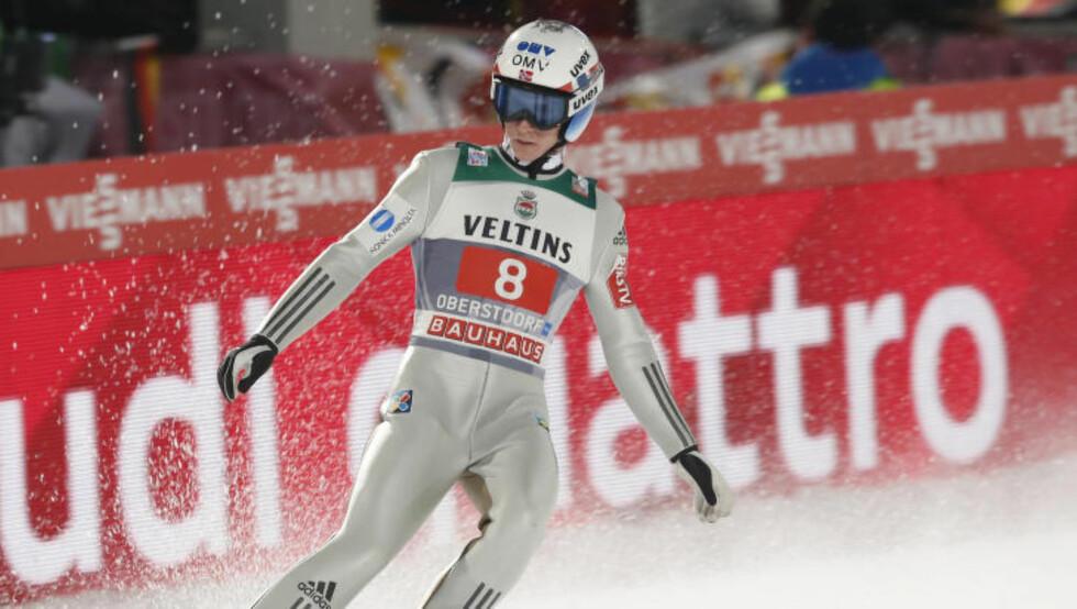 BESTE NORDMANN: Anders Fannemel kapret 4. plassen i Oberstdorf.  Foto: Terje Bendiksby / NTB scanpix