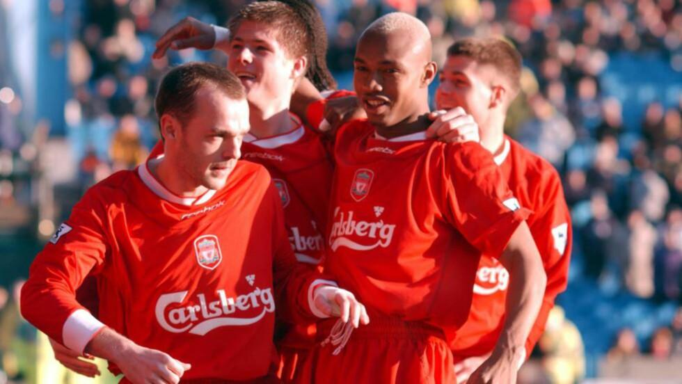 KRASS KRITIKK:  Tidligere Liverpool-spiller El Hadji Diouf har lite til overs for både Steven Gerrard og Jamie Carragher. Foto: NTB / Scanpix.