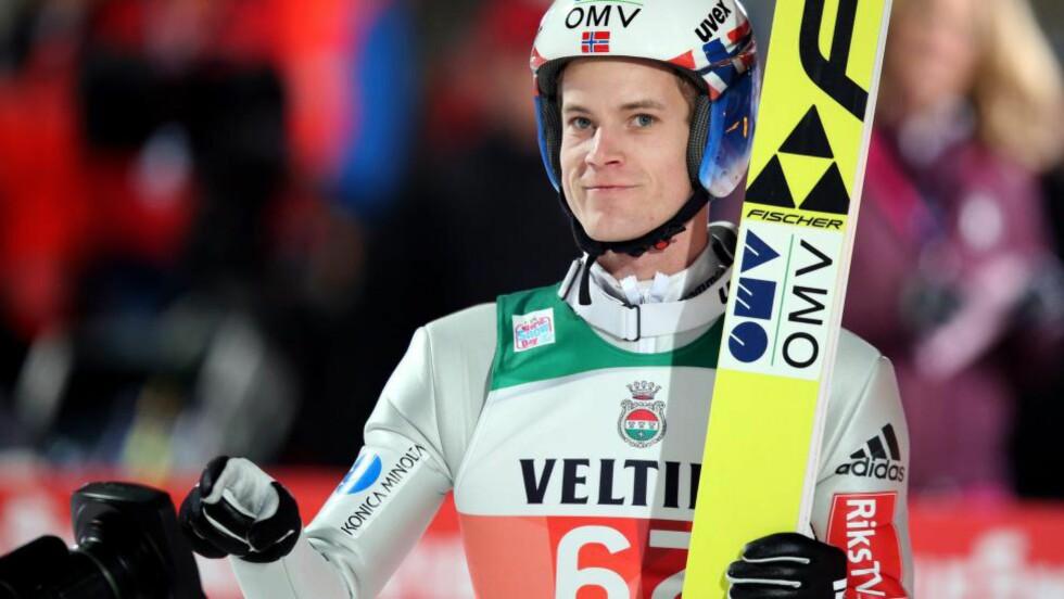 NEST BEST: Kenneth Gangnes kapret en imponerende 2. plass i Garmisch-Partenkirchen. Foto:  EPA/DANIEL KARMANN