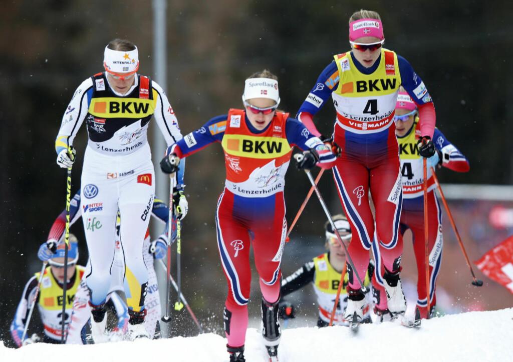 OUTSIDER: Ingvild Flugstad Østberg imponerte stort på 15 kilometeren i Lenzerheide, men fnyser av egne seierssjanser i Tour de Ski. Foto: NTB Scanpix