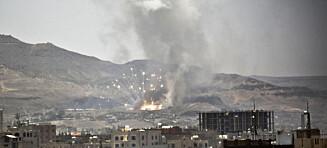 I alt 2700 sivile er drept i borgerkrigen i Jemen. Norge selger våpen til partene