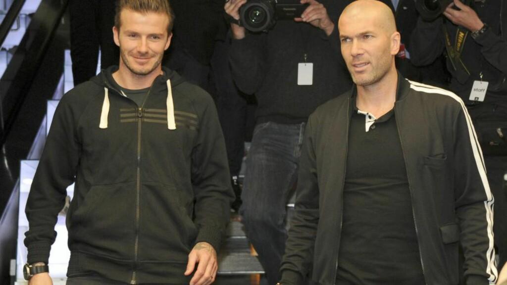 ROS: Zinedine Zidane er helt rett person til å overta trenerrollen i Real Madrid, mener David Beckham. Foto: Thierry Plessis/ABACAPRESS.COM