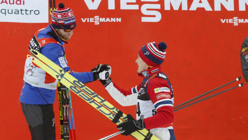 STERK: Martin Johnsrud Sundby ble slått av Finn-Hågen Krogh i dag, men økte forspranget til de argeste konkurrentene i Tour-sammendraget. Foto: Terje Pedersen / NTB Scanpix